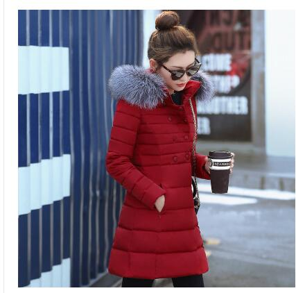 2017 Korean version of the new cotton women in the long section of the big coat collar fashion cotton jacket large size winter f 2017 new korean version of the long section collar coat female waist was thin trade down jacket winter coat tide behalf cc278