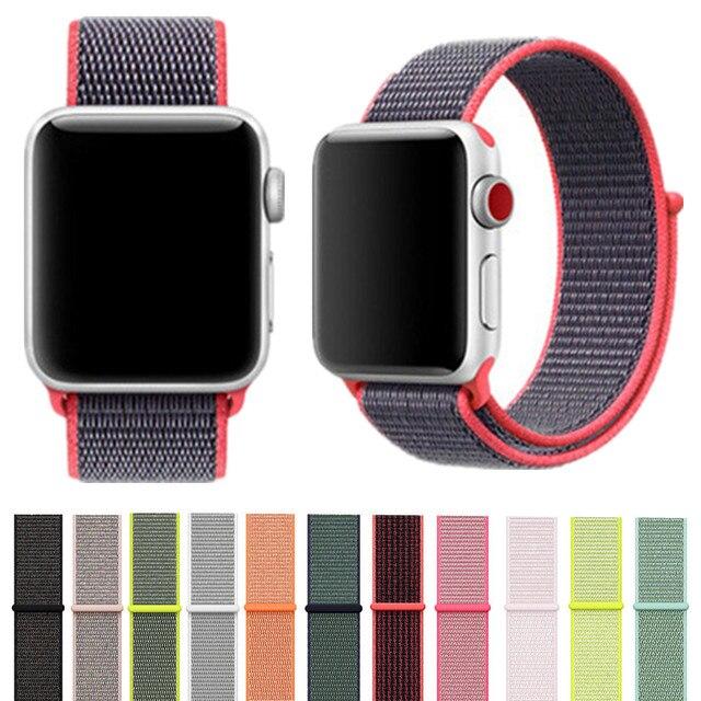 Новое поступление нейлоновый спортивный бесшовный репликация Band для Apple Watch серии 1/2/3/4 легкий из мягкой дышащей ткани с вязанными лямками 38/42/40/44