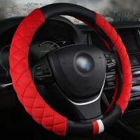 1PCS Car Styling Soft Plush 37cm 38CM Universal Car Steering Wheel Cover A Accessories