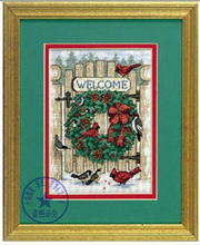 Needlework,DIY Cross Stitch,Sets For Embroidery kits,11CT&14CT,Wreaths and birds