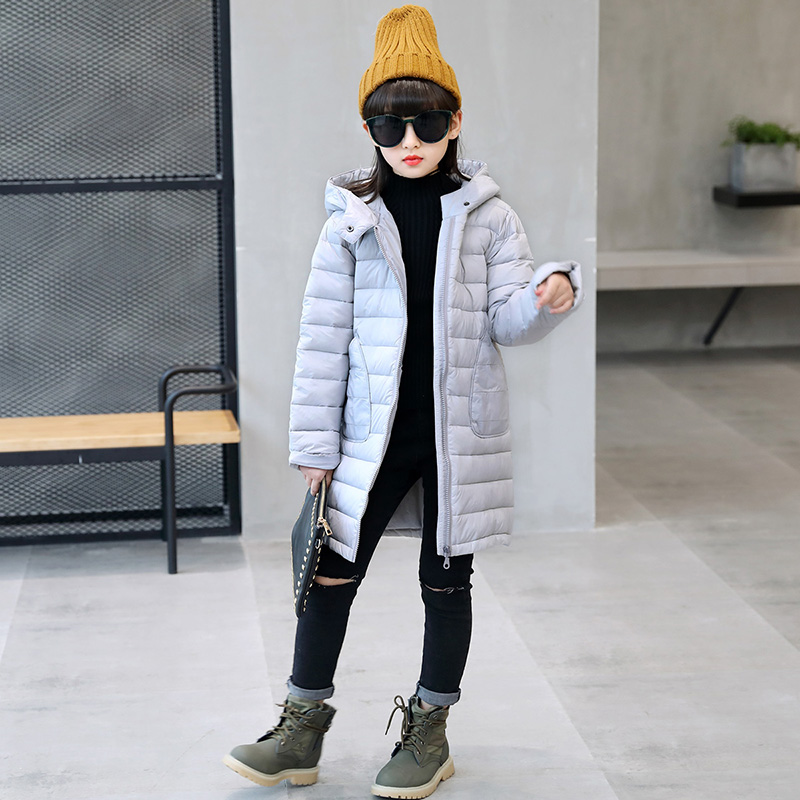 HSSCZL Girls Down Jackets 2017 Brand Girl Down Coat Jacket Winter Hooded Fashion Children Outerwear Parkas Overcoat 5-12 brand fashion new 2016 winter children down & parkas girl s hooded jackets print character outer wear clothing