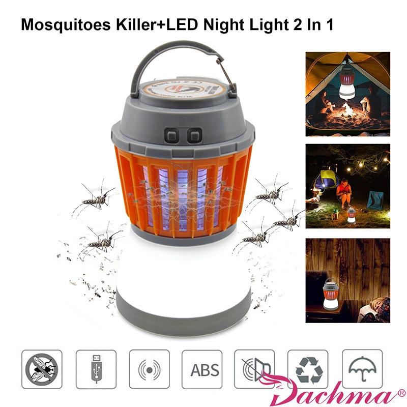Asesino del Mosquito eléctrica lámparas USB recargable Bug Zapper Mosquito trampas Kill repelente de mosquitos impermeable mosca trampa Pest control