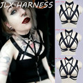 2016 New Products BDSM Body Cage Bra Goth Harajuku Harness Belt Around Neck Criss Cross Bondage Lingerie 90's Fetish Wear O0254