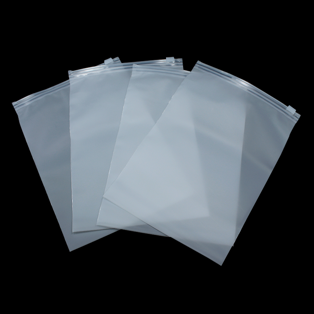 14 20cm Matte Clear Plastic Storage Bag Zipper Seal Zip
