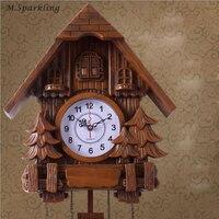 Cuckoo Clock Living Room Wall Clock Bird Alarm Clock Watch Modern Brief Children Unicorn Decorations Home Day Time Alarm Only