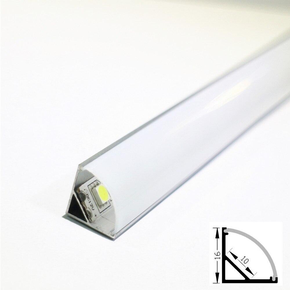 8pcs 1m led strip aluminum profile for 10mm 12mm pcb 5050 5630 led strip housing aluminum