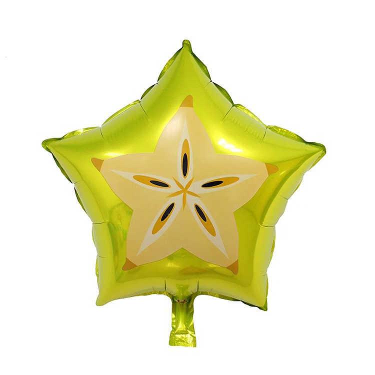 "1 Pcs 18 ""Buah Foil Helium Balon Peach Semangka Kiwi Strawberry Orange Nanas Summer Perlengkapan Dekorasi Pesta Mainan Anak"