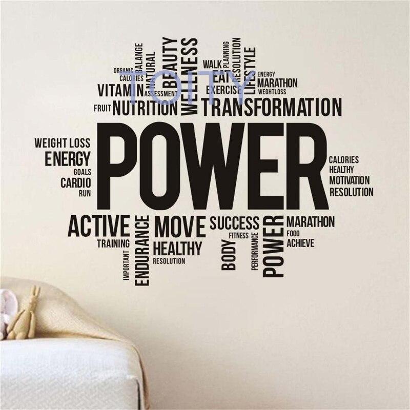 R 61 33 25 De Desconto Palavras De Motivação Decalque Da Parede Do Vinil Adesivos Esporte Ginásio De Fitness Interior Home Design Arte Murais