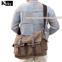 2018 Vintage Men's Messenger Bags Large capacity Canvas Shoulder Bag Men Business Crossbody Bag Laptop Travel Handbag
