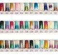 100 unids Largo Glitter Clavo Falso Francés de Acrílico Consejos Media Uñas Postizas Arte Brillante Diseño