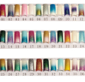 100pcs Glitter Long False Nails French Nail Tips False Acrylic Half Tips Shining Art Design