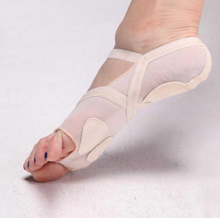 밸리 댄스 운동 신발 여성 요가 안티-슬립 양말 발가락 양말 붕대 오픈 발가락 요가 여성 코튼 요가 양말 m19