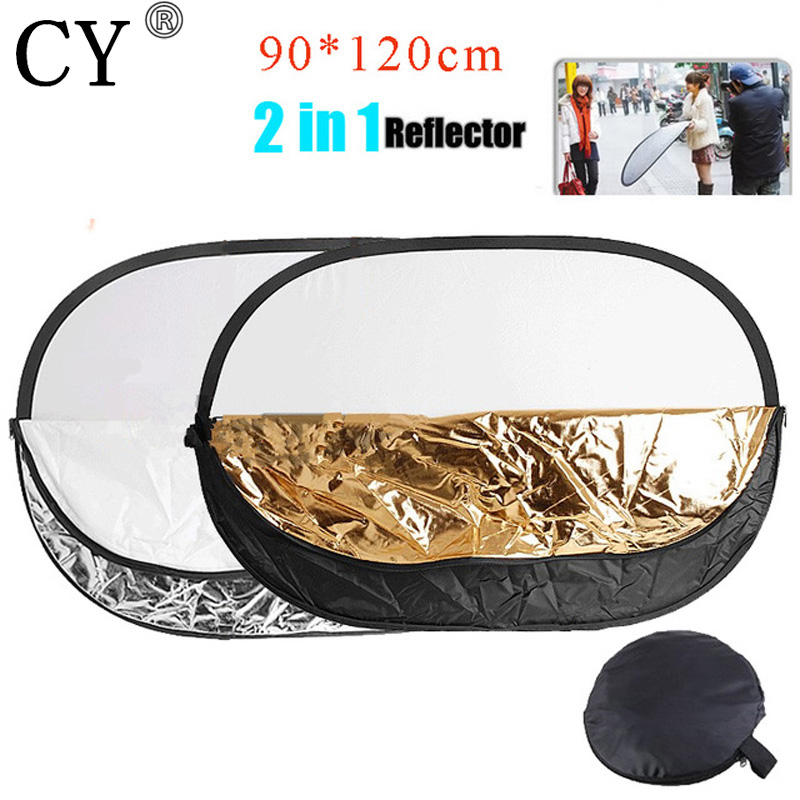 90x120cm 2 in 1 Handheld Portable Collapsible Light Oval Photography Reflector Studio Multi Disc Photo Studio Accessories