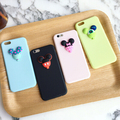 Cute Cartoon 3D Jelly Mouse Case Cover For Apple iPhone 6 6S Case Silicone 6 Series Soft TPU Macaroon Case For Phone