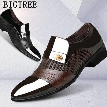 italian loafers men shoes wedding oxford shoes for men formal shoes men mens dress shoes zapatos de hombre de vestir formal 2019