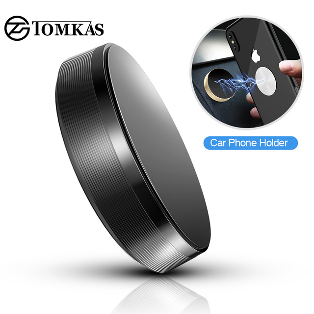 TOMKAS Magnetic Holder For Phone in Car Universal Wall Desk Metal Magnet Sticker Car Phone Holder Mobile Phone Holder Mount