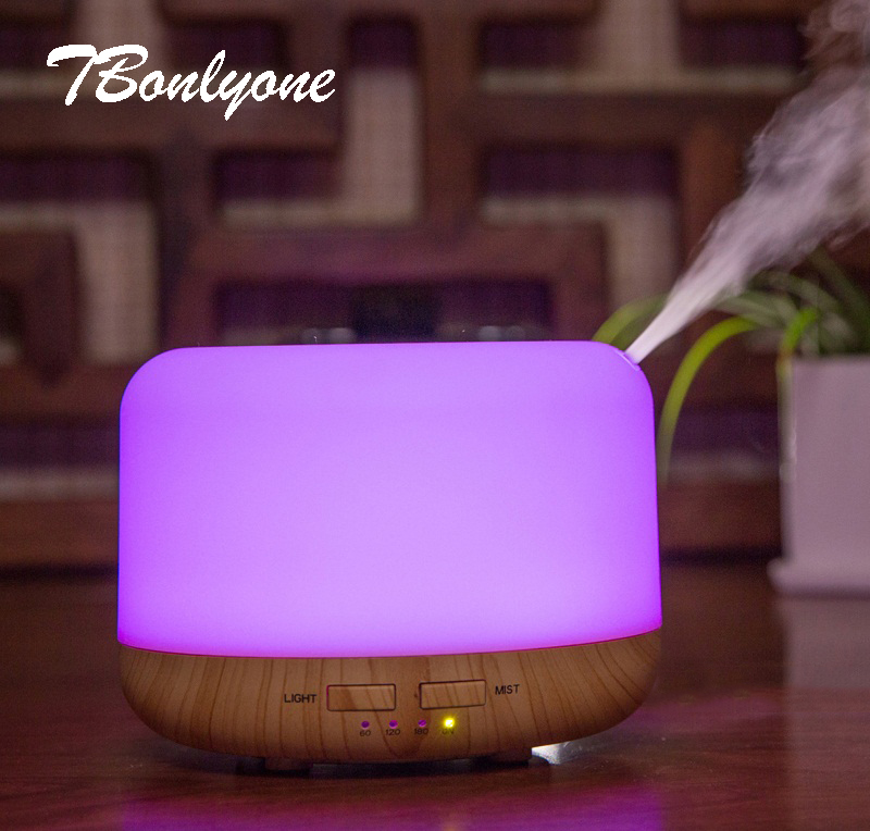 TBonlyone 400ML Auto Shut-off Electric Ultrasonic Air Humidifier Aromatherapy Essential Oil Aroma Lamp Diffuser for Office Room цены онлайн
