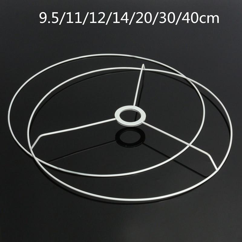 Circular Lampshade Frame Ring 9.5/11/12/14/20/30/40cm Diameter Lamp Light Shade DIY Making Kit Set Iron E27 Lampshade Frame