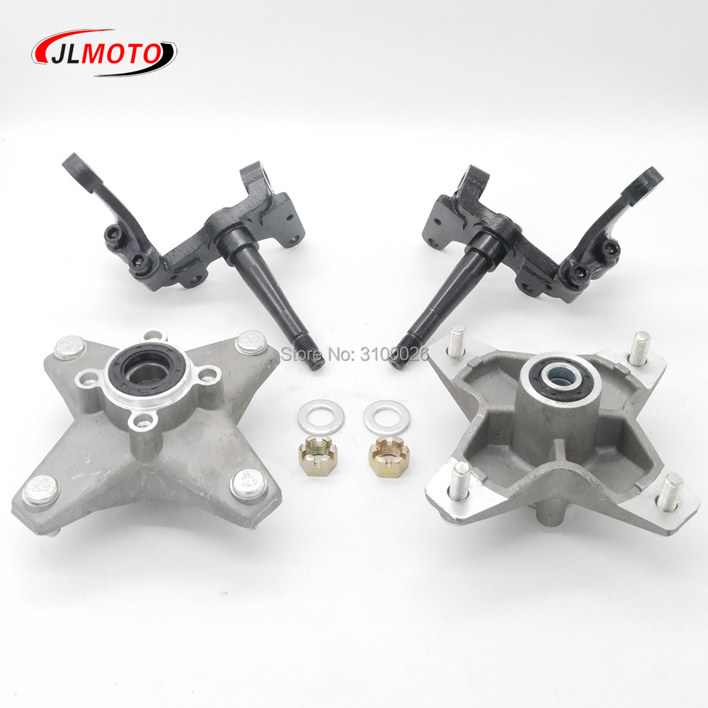 OEM Full Set Left/Right Knuckle Spindle With Wheel Hub Fit For YAMAHA Banshee Warrior RAPTOR ATV YFZ YFM 250 350 QUAD BIKE Parts брюки для беременных yfz