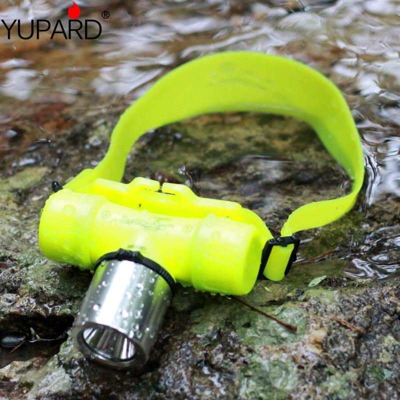 YUPARD wasserdichte Unterwasser 1000 Lumen XM-L XML T6 led Scheinwerfer 60 mt Schwimmen Tauchen Tauch Kopf Licht Taschenlampe Lampe 18650/AAA