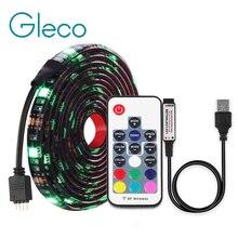DC5V USB светодиодный полосы 5050 RGB/RGBW/RGBWW 50 см, 1 м, 2 м, ТВ фонового освещения Flexibe светодиодный клейкая лента IP20/IP65 из водонепроницаемого материала