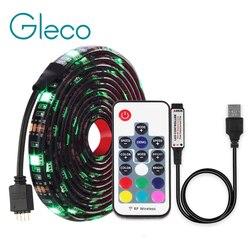 DC5V شريط ليد مزود بيو إس بي 5050 RGB RGBW RGBWW 50 سنتيمتر 1 M 2 M التلفزيون إضاءة خلفية Flexibe LED قطاع لاصق IP20 /IP65 للماء