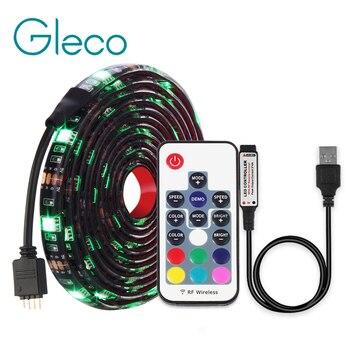 DC5V USB светодиодный полосы 5050 RGB/RGBW/RGBWW 50 см, 1 м, 2 м, ТВ фонового освещения Flexibe светодиодный клейкая лента IP20/IP65 из водонепроницаемого материал...