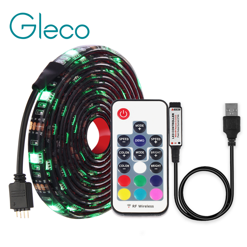 DC5V <font><b>USB</b></font> LED strip <font><b>5050</b></font> RGB RGBW RGBWW 50CM 1M 2M TV Background Lighting Flexibe LED strip Adhesive Tape IP20 / IP65 waterproof image