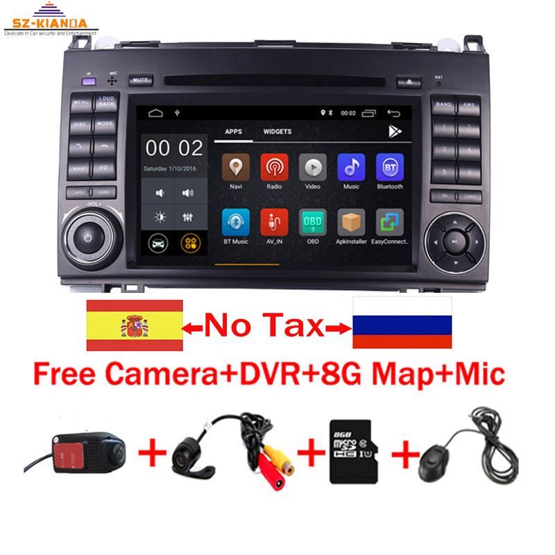 7IPS Touch Screen Android 9.0 Car DVD Player for Mercedes-benz B200 W169 A160 Viano Vito GPS NAVI RADIO BT wifi 3G dvr free map