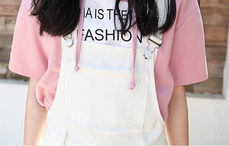 Denim Jumpsuit Women Solid Hole Jeans Jumpsuit Rompers Women Korean Fashion Suspender Monos Largos Mujer Pantalon Largo Overalls 15