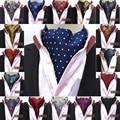 Hombres Lunares Seda Paisley Corbatas Ascot Corbata Del Banquete de Boda de Baile BWTHZ0153