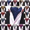 Homens Paisley Gravata de Bolinhas De Seda Lenço de Casamento Festa de Formatura Pescoço Laços BWTHZ0153