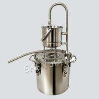 Household Essential Oil Pure Dew Extraction Machine 10L/20L Distillation Production Refining Wine Brewing Steamed Wine Equipment