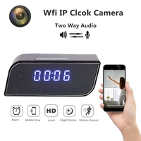 New 1080P Mini Rearview Camera Time Alarm Wireless Nanny Clock IP HD P2P Night Vision Motion Detection Home security camera wifi