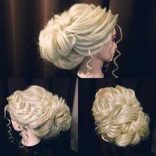 Manequim cabeça bonecas 70cm cabelo sintético manequim cabeleireiro estilo formação cabeça para a prática estilo do cabelo corte de cabelo