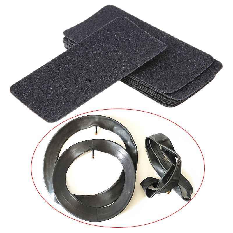 10 pçs papel de lixamento seco tamanho pequeno pneus remendo moagem tubo interno bicicleta reparação pneus ferramenta acessórios