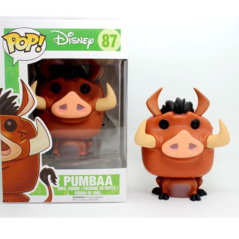 Funko POP Disney Cartoon The Lion King -Pumbaa PVC Action Figure Collectible Model Toys For Chlidren Birthday Gift
