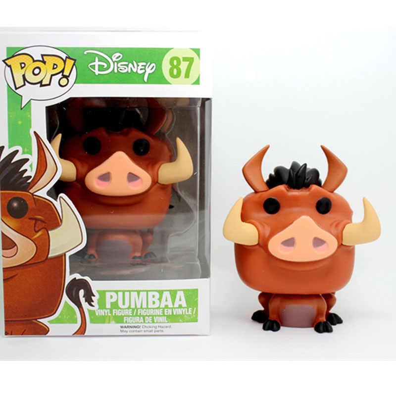 Funko POP Disney Kartun Raja Singa-Pumbaa PVC Action Figure Collectible Model Mainan untuk Chlidren Hadiah Ulang Tahun