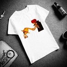 4752314312 Skipoem Engraçado Camiseta Homens One Piece Luffy Zoro Lei Algodão O  Pescoço Camiseta Plus Size Manga Curta T-Shirt Dos Homens d.
