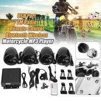 Mofaner 4PSC Мотоцикл ATV Audio1000W 12 В ЖК дисплей Bluetooth 4 динамика + усилитель руль Системы мотоцикл/ATV
