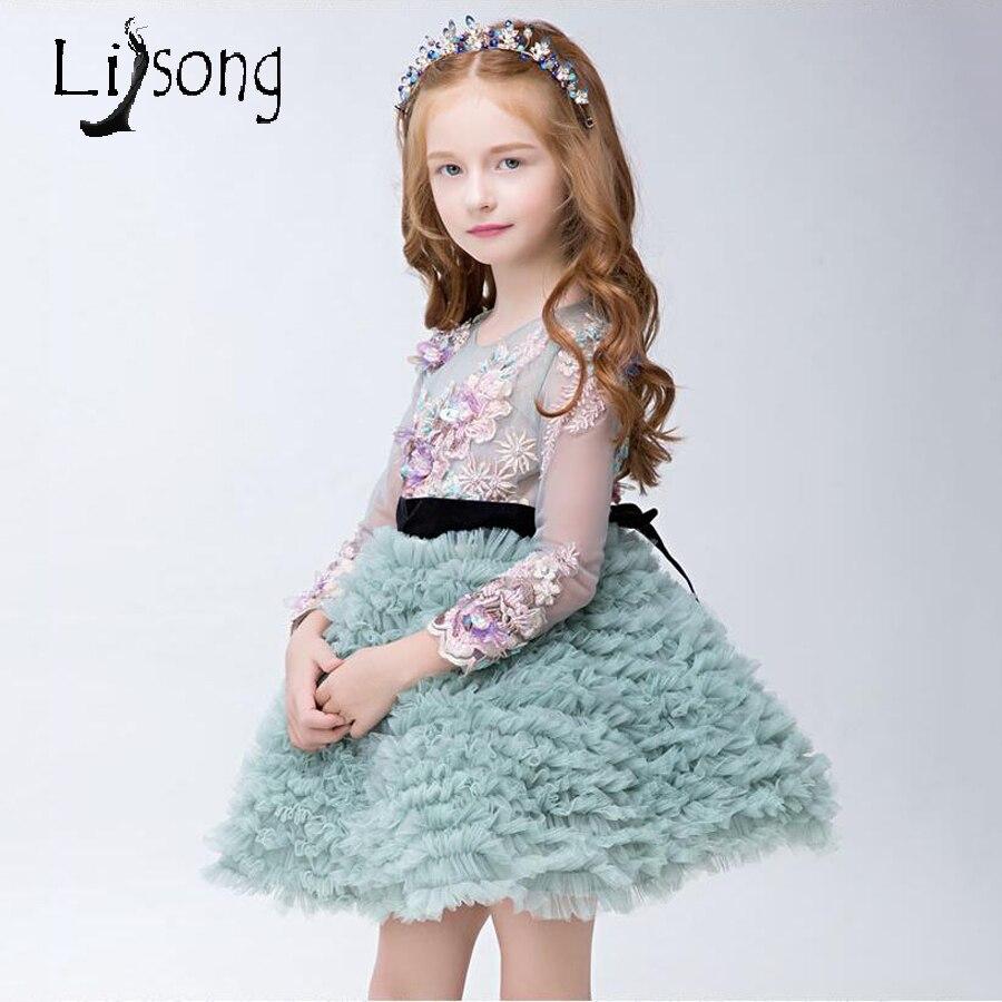 2018 Flower Girl Dresses First Communion Dresses for Girls High End ...