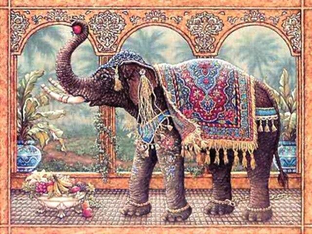 Вышивка слон крестиком