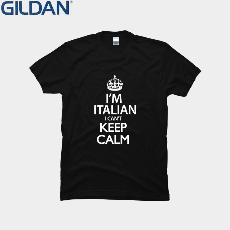 Casual I Can't Keep Calm Im Italian Men T Shirt Interesting Natural Tshirt Gents Streetwear Camisa Plus Size 3xl Hiphop