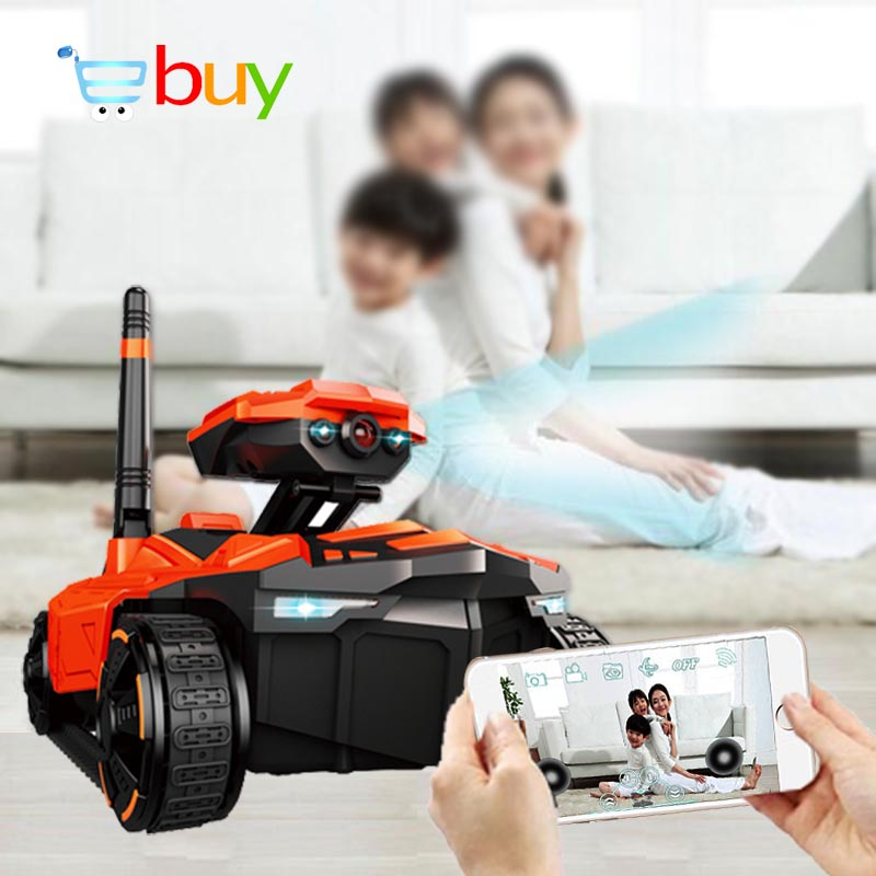 Smart RC réservoir téléphone App contrôlé Wifi FPV HD caméra AR PVP bataille électrique Rover Robot télécommande jouets pour enfants garçons