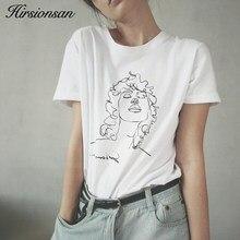 92edeb71678f Hirsionsan T Shirt Women 2018 Summer Tumblr Graphic Printed White Tops Tees  Cotton Short Sleeve Funny Tshirt Female Harajuku