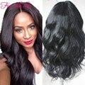 8а класс необработанные бразильский парик Glueless девственных человеческого волоса фронта бразильские парики с волосами младенца