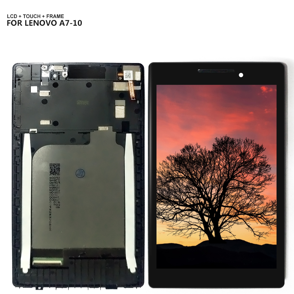 For Lenovo Tab 2 A7-10 A7-10F A7-20 A7-20F LCD display touch screen digitizer Glass assembly with Frame(China)