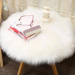 45 CM Artificial Wool Sheepskin Rug Chair Cover Warm Hairy Carpet Seat Badroom Set Floor Carpet Stripes Rug Decora o Home Decor(China)