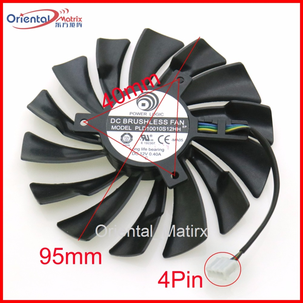 Free Shipping PLD10010S12HH 12V 0.40A 4Pin 95mm For MSI GTX1060 1070 AERO ITX Graphics Card Cooler Cooling Fan free shipping t128015su msi r4770 hd4770 4pin pwn graphics card fan