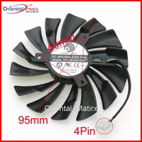 Free Shipping PLD10010S12HH 12V 0 40A 4Pin 95mm For MSI GTX1060 1070 AERO ITX Graphics Card
